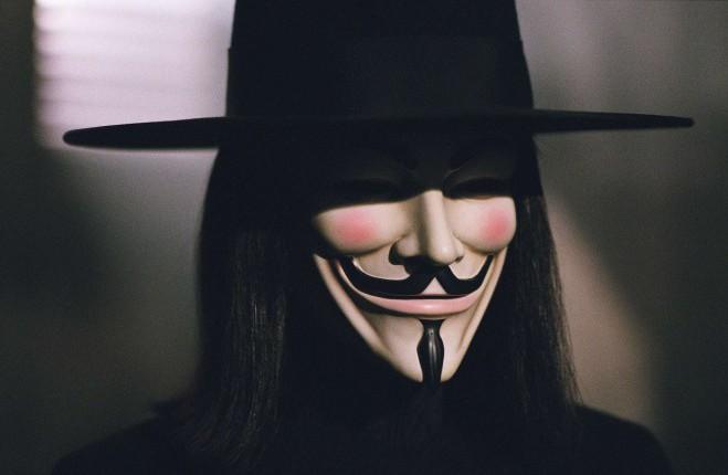 Hugo Weaving as V in V for Vendetta.