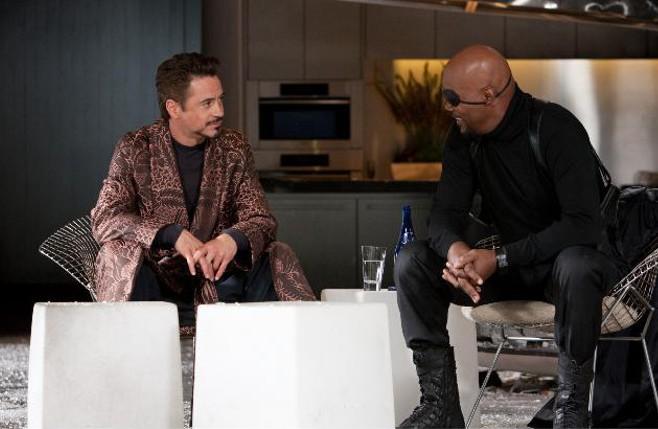 Tony Stark and Nick Fury