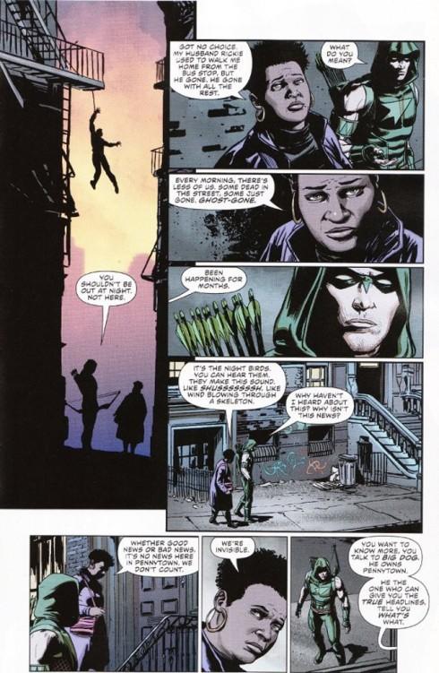 Green Arrow #41 interior artwork