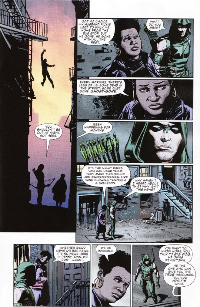 Green Arrow #41 interior artwork