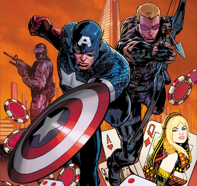 Captain America and Hawkeye by Patrick Zircher