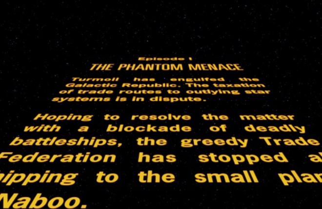 The opening crawl