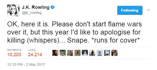 Snape_tweet